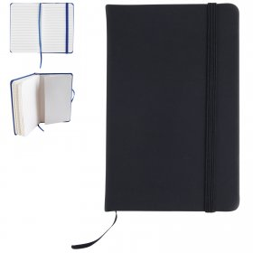 LL5099 Notebook with Elastic Closure and Expandable Pocket