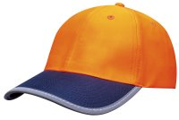 3021 Luminescent Safety Cap with Reflective Trim