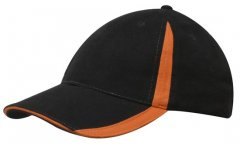 4014 Brushed Heavy Cotton Cap with Inserts