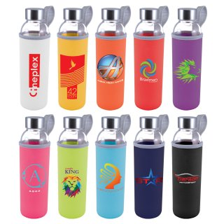 LL1398 Capri Glass Bottle Neoprene Sleeve 570ml