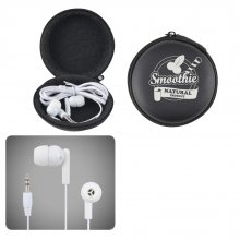 LL6150 Earbud/Headphone Set Round EVA Zippered Case