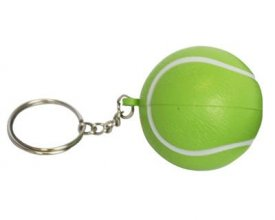 S34 Tennis Promotional Stress Keyring