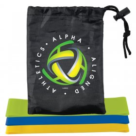LL8842 Stamina Resistance Bands in Drawstring Pouch