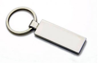 K1 Rectangle Promotional Metal Keyring