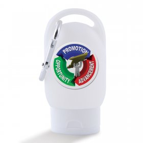 LL4673 30ml Liquid Hand Sanitiser with Carabiner