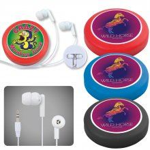 LL6154 Earphone / Headphone Set in Silicone Case with Cord Retainer