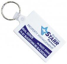 KP603 Durasoft Rectangle Promo Keyring
