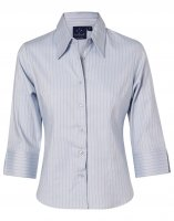 BS18 Pin Stripe Ladies Business Shirt
