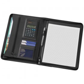 9206BK A4 Phoenix Zippered Compendium with Solar Calculator