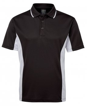 7pp Jbs Wear Podium Poly Contrast Embroidered Mens Polo Shirt