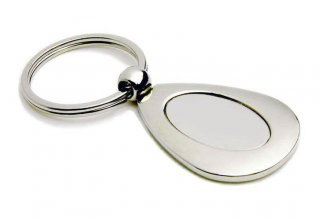 K4 Teardrop Promotional Metal Keyring