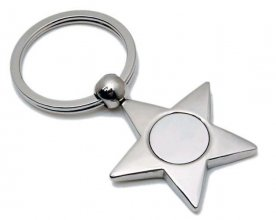 K23 Star Shaped Metal Promotional Keyring
