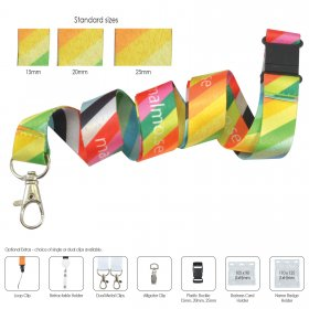 LN6310 Polyester Sublimation Lanyard